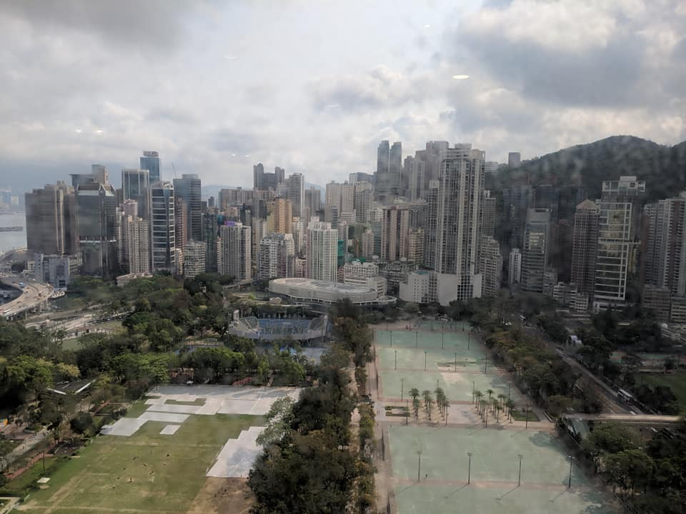 View from the office in Hong Kong